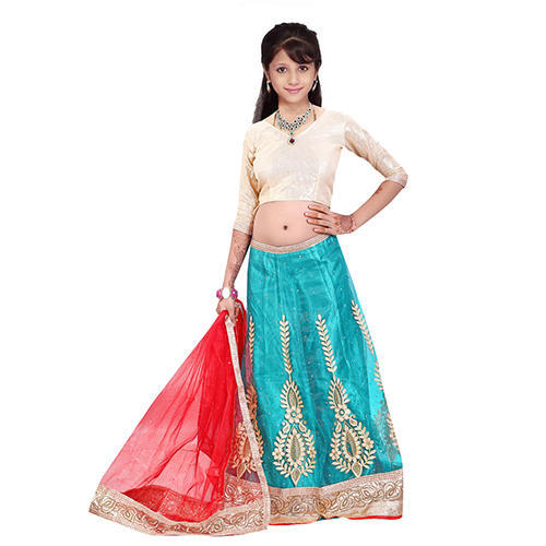 2cd2ff8ef Art Silk   Net Festive Wear Designer Kids Lehenga Choli