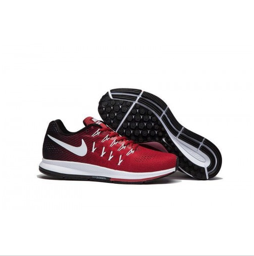 3b031eb280b29 Red And Black And Red And White Men MV80700 Nike Air Pegasus 33 Running  Shoes Replica