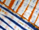 Printed Tie Dye Multi Color Voile Fabric