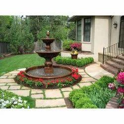 Polyresin Brown Greenery Landscape Garden Fountain