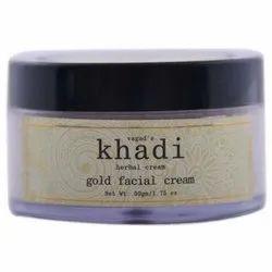 Vagad's Khadi Khadi Herbal Gold Facial Cream, Pack Size: 50 Gm / 1.75 Oz