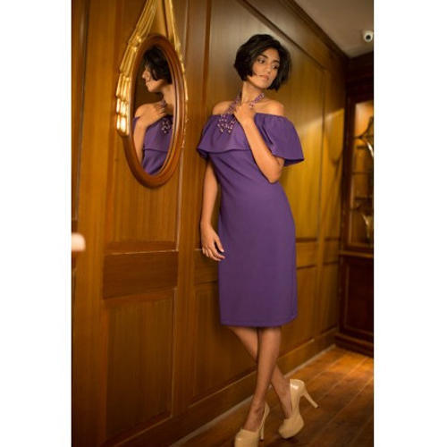 9905cdb2e429 Plain Stylish Off Shoulder Dress