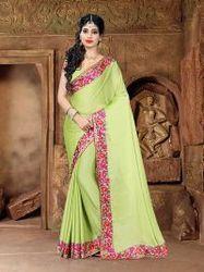 This New Sea Green Beautiful Saree