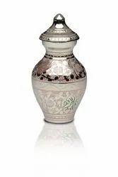 Handmade beautiful metal urn
