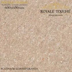 Gloss Platinum Almond Granite Vitrified Double Charge Tiles, Thickness: 8-10 mm, Size: 600x600 And 800x800 mm
