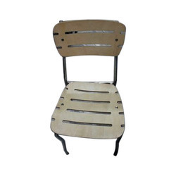 Wood And Stainless Steel Restaurant Chair without Arm