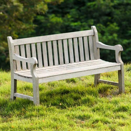 Pleasing Antique White Wooden Distressed Garden Bench Size 52 X 20 Machost Co Dining Chair Design Ideas Machostcouk