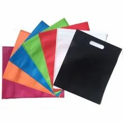 Recyclable Plain Colored Non Woven D Cut Bag, For Grocery