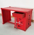 Red ''Container'' Style Industrial Office Desk, Container Style Furniture