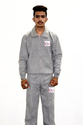 3 thread fleece track suit grey