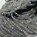 2mm Natural Labradorite Micro Faceted Beads