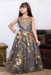 Wedding Wear Baby Girls Beautiful Designer Organza Kids Party Wear Gown