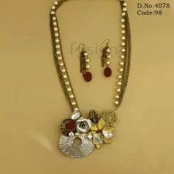 Fusion Indo Western Beaded Necklace Set