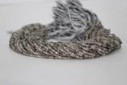 Natural Black Rutiliated Quartz Faceted Beads