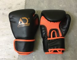 AD Black Boxing Gloves (12 Oz) PU, For Training & Competition