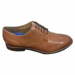Brown Formal Mens Tan Plain Leather Shoes, Size: 6-12