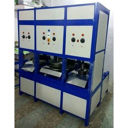 3 Die Semi Automatic Hydraulic Paper Plate Machine