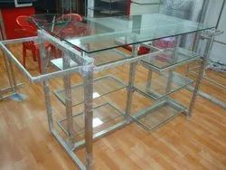 SS Glass Shop Rack