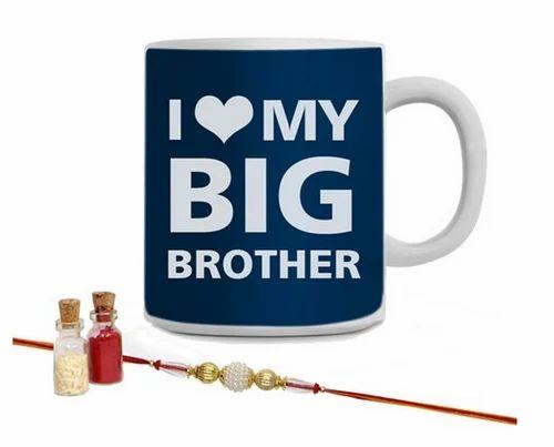 Giftsbymeeta Love You Big Brother Mug N Rakhi At Rs 349 Piece