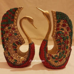 Brass Statues Brass Swan Items Decorative Showpieces