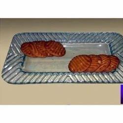 Saras Art Rectangular Glass Serving Platter, Size: 7 x 10 inch