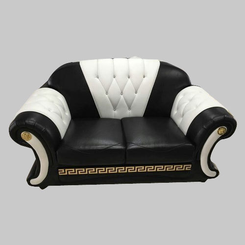 Black And White Two Seater Sofa