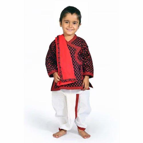 99dc3c79969 Jaipuri Design Kids Dhoti Kurta Angrakha 207A at Rs 294  piece ...