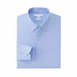 Cotton Blue Full Sleeve School Uniform Shirt, Packaging Type: Packet