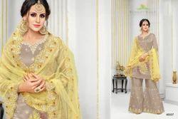 Maslin Silk Embroidered Party Wear Salwar Kameez