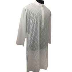 Full Sleeves Mens Embroidered Chikan Kurta