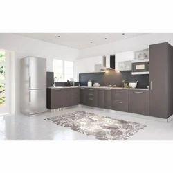 Solid Surface Modern Designer Modular Kitchen