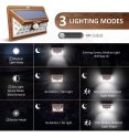 24 LED Wood Finished Solar Outdoor Lighting