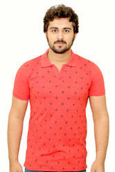 Prnited Color Neck T-shirts