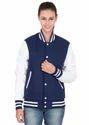 Royal White Women Varsity Jacket