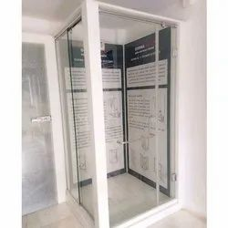 Plain Shower Cubicle Glass Door For Bathroom, Glass Thickness: 8-10 mm