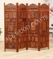 Brown,White Sheesham Wood Partition Screen, For Home, Size: 72x80x1