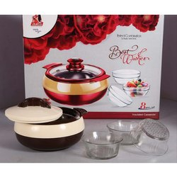 Best Wishes Glass Bowl and Casserole Combo Set