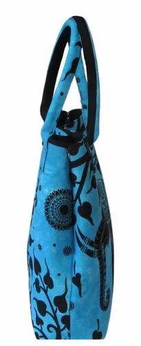 086b38360 Sky Blue Elephant Tree Printed Tie Dye Women Handbag, Size: Height 15  Inches and