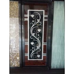 Aluminium Door Floral Printed Glass