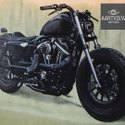 3d Motorcycle Wall Painting Service