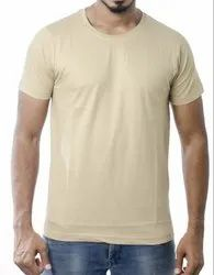 Mens Tan Colour Round Neck T Shirts