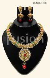 Traditional Antique Indian Bridal Necklace Set