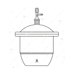 Desiccator, Vacuum With Tubular Lid