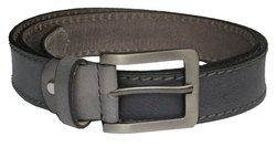 Casual Stitch Leather Grey Belt