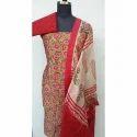 Cotton Full Sleeves Printed Banarasi Salwar Suit Material
