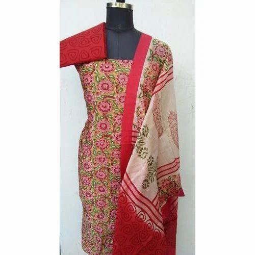 fb3ab9c027 Cotton Full Sleeves Printed Banarasi Salwar Suit Material, Rs 900 ...