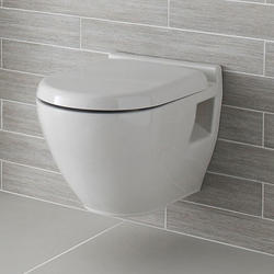 White Wall Mounted Toilet Seat
