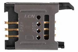 6 Pin Normal Hinge Type Sim Card Connector