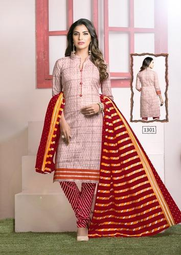 373d6bd7b6 Meenaxi Dhoom Vol 13 Pure Cotton Printed Jetpur Pali Unstitched Dress  Material
