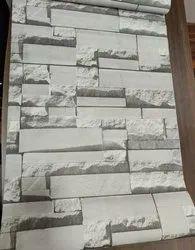 3D Brick Design Room Wallpaper